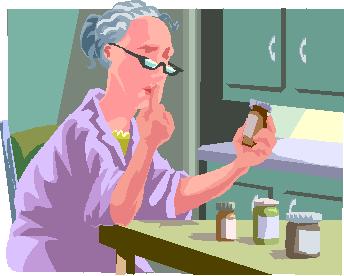 paciente con gafas presbicia duda ante medicamentos